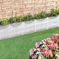 Flexible White Picket Fence Garden Border - 4pcs