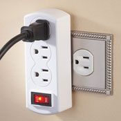 Triple Plug Outlet Adapter with On/Off Switch - 28034