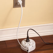 Retractable Extension Cord with Two Sockets