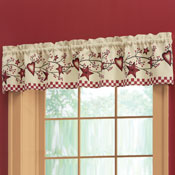 Country Heart Checkered Window Valance - 28238