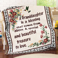 Floral Treasure Blessings Throw Blanket