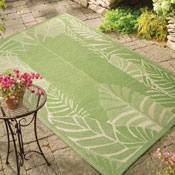 Palm Leaf Outdoor Rug Patio Mat - 28610