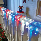 Patriotic Red White and Blue Rope Light - 28772