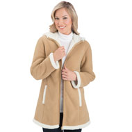 Polar Fleece Sherpa Lined Zip Up Coat - 28940