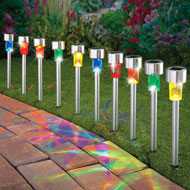 Stainless Steel Solar Path Lights - Set of 10
