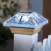 Monogram Solar Post Cap Light - 29482
