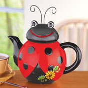 Loveable Ladybug Ceramic Kitchen Teapot - 29620