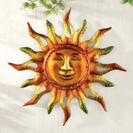 Metallic Sun Wall Art