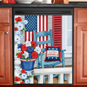Patriotic Porch Magnetic Dishwasher Cover - 29716