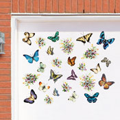 Butterflies and Flowers Garage Door Magnets Set - 29730