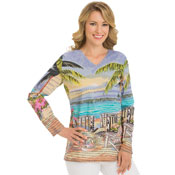 Long Sleeves Day at the Beach Tunic Top