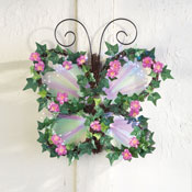 Fiber Optic Floral Butterfly Wall Art - 29900