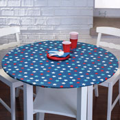 Fitted Elastic Star Pattern Table Cover - 30065