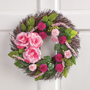 Rose and Berries Twig Wreath - 30081
