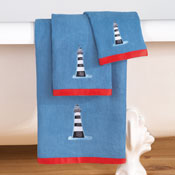 Embroidered Nautical Sandy Point Towels - Set of 3 - 30624