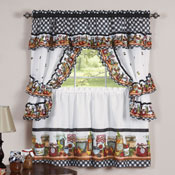Mason Jars Kitchen Cafe Curtain Set - 30654