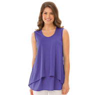 Double Tier Layered Tank Top - 30816