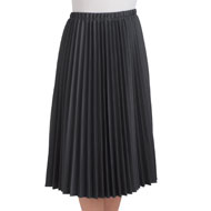 Pleated Mid Length Midi Skirt