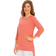 High Low Scoop Neck Tunic Top