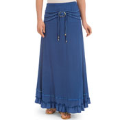Faux Buckled Maxi Skirt