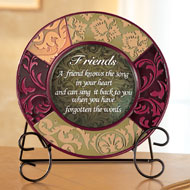 Decorative Inspirational Plate with Display Stand - 31375