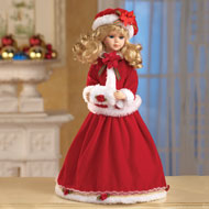 Seasonal Holiday Porcelain Collectible Doll - 31379
