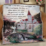 The Lord Bless You Message Tapestry Throw - 31427