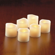 Flameless LED Votive Candles - Set of 6