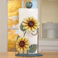 Metal Sunflower Paper Towel Holder - 31526