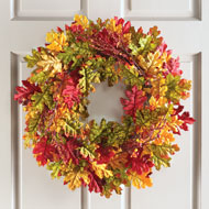 Oak Leaves Autumn Harvest Wreath