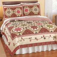 Embroidered Floral Carrington Star Quilt - 31671