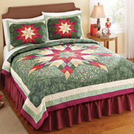 Holiday Star Christmas Patchwork Quilt