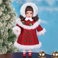 Cold Weather Chloe Porcelain Doll - 31831
