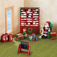Collectible Miniature Santa's Mailroom Set - 7pc