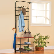Entryway Hook and Shelf Bench - 31984