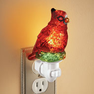 Glitter Cardinal Night Light