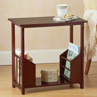 Wooden Magazine Organizer Table - 32011