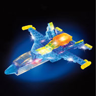 LED Laser Pegs Transformer Jet Airplane - 32281