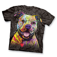 Colorful Short Sleeve Beware of Pit Bulls Tee