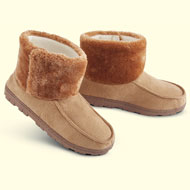 Faux Suede Memory Foam Slipper Booties - 32422