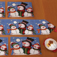 Holiday Snowman Family Table Linens - 32525