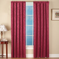 Scroll Insulated Sheen Curtain Panel