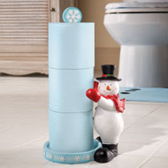 Frosty Friend Snowman Toilet Paper Holder - 32659