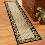 Floral Scroll Basket Weave Rug - 32701