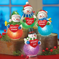 Lighted Family Snowman Tree Ornament - 32769