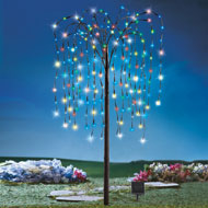 Willow Tree Outdoor Decoration with Solar Lights - 32797