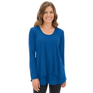 Long Sleeve Double Tier Hemline Top