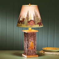 Northwoods Nature Tree Trunk Lamp