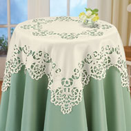 Floral Scroll Cut-Out Table Linens - 32896