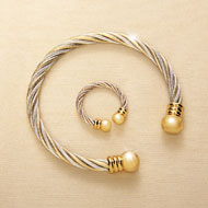 Copper and Magnetic Therapeutic Jewelry Set - 32898
